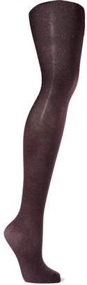 Wolford Lurex Tights - Dark purple