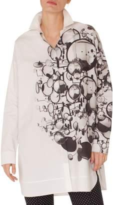 Akris Punto Mirror Print Tunic Shirt