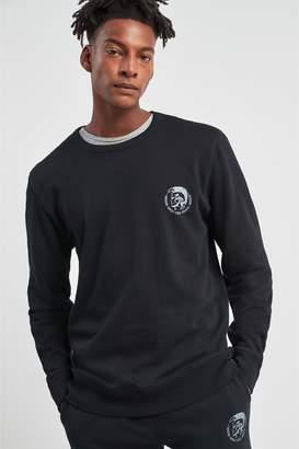 Next Mens Diesel Logo Crew Neck Sweater