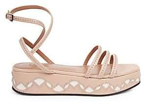 Alaà ̄a Women's Studded Leather Flatform Sandals