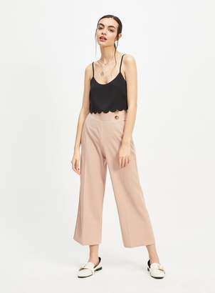 bd9cb5aeb9eb Miss Selfridge Nude Button Wide Leg Trousers