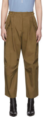 Givenchy Brown Military Cargo Trousers