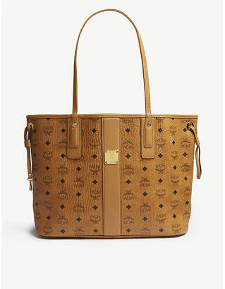 MCM Brown Oversized Leather Tote Bag