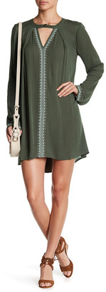 En Creme Embroidered Bell Sleeve Slip On Dress $58 thestylecure.com