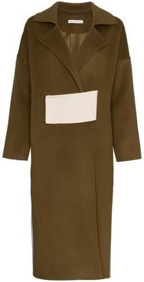 Rejina Pyo Kate Two-Tone Wool Coat
