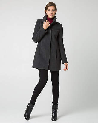 Le Château Cashmere Blend Funnel Neck Coat