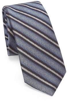Saks Fifth Avenue MODERN Ombre Stripe Silk Tie