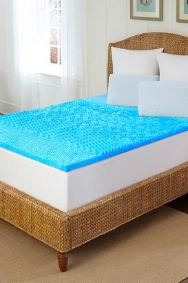 Rio Home Artctic Sleep Marbelized Gel Memory Foam Topper - Queen