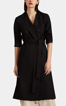 Robert Rodriguez Women's Hybrid Belted Double-Breasted Coat - Black