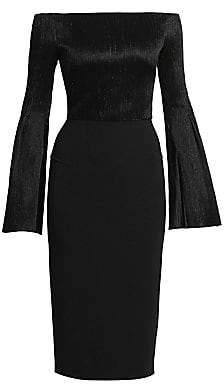 Roland Mouret Women's Anina Plisse Off-The-Shoulder Dress