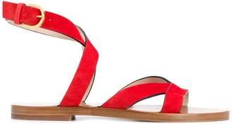 Stuart Weitzman flat strappy sandals