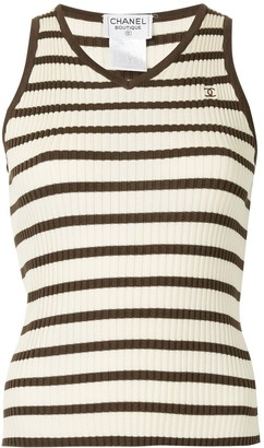 Chanel Pre-Owned sleeveless ribbed top