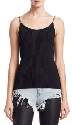 Alexander Wang Chain Ribbed Tank Top