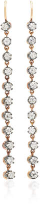 Montse Esteve 18K Gold Oxidized Silver And Diamond Earrings
