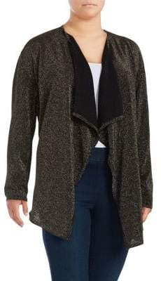 MICHAEL Michael Kors Metallic Draped Cardigan