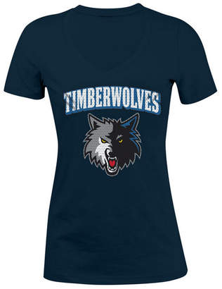 5th & Ocean Women's Minnesota Timberwolves Mesh Logo T-Shirt