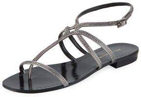 Pelle Moda Yonder Rhinestone Low-Heel Sandal