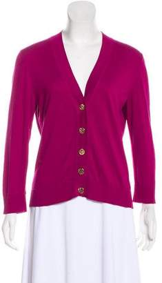 Tory Burch V-Neck Long Sleeve Cardigan