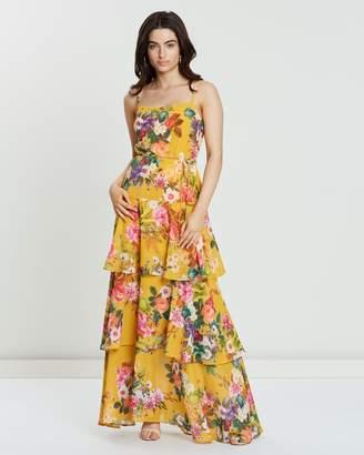 Cooper St Vivid Tie Waist Maxi Dress