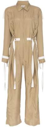 Lee Mathews Judd aviator collar silk jumpsuit
