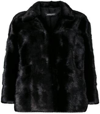 Simonetta Ravizza cropped sleeve fur jacket