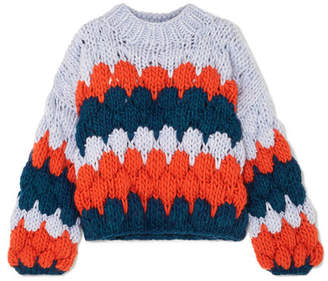 The Knitter - The Ugly Intarsia Wool Sweater - Blue