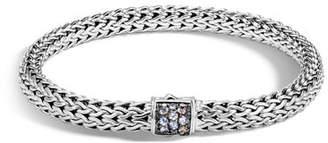 John Hardy Classic Chain Small Pavé Pusher Clasp Bracelet