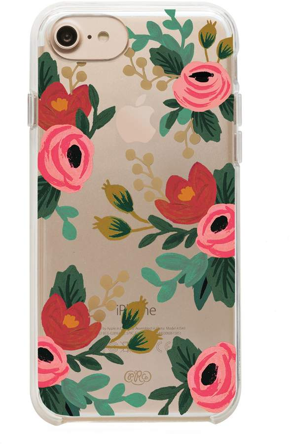 Rifle Paper Co Clear Rose iPhone 6, 7, & 8 Case