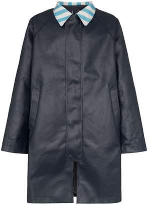 Sunnei contrast collar oversized trench coat