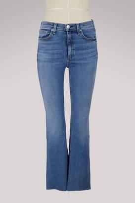 Rag & Bone Hana high-waisted straight jeans