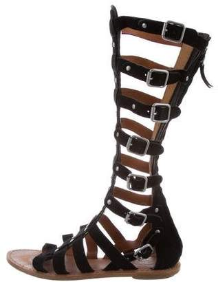 Ash Suede Gladiator Sandals