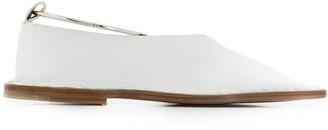 Jil Sander stud embellished slippers