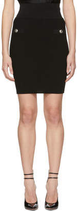 Balmain Black Double-Button Tube Skirt