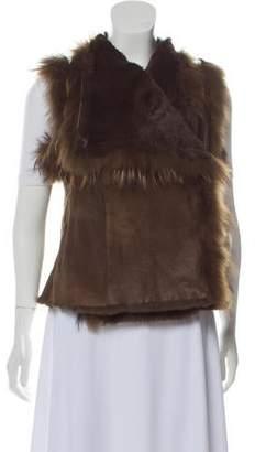 Yves Salomon Fur-Trimmed Shearling Vest