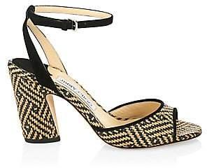 Jimmy Choo Women's Miranda Ankle-Strap Peeptoe Heels