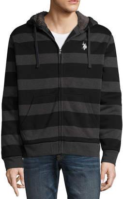 U.S. Polo Assn. USPA Long-Sleeve Full-Zip Sherpa Hoodie