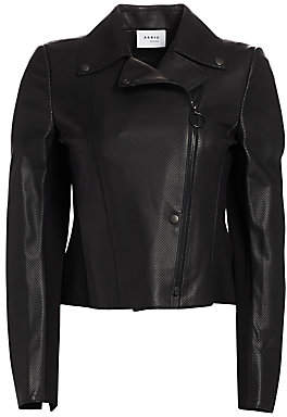 Akris Punto Women's Perforated Leather & Jersey Jacket