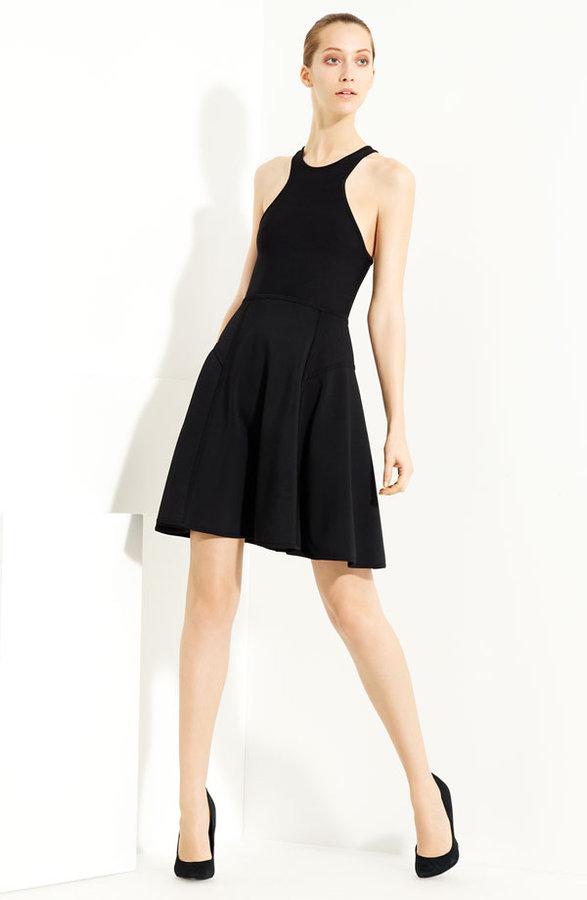 Yigal Azrouël Cutaway Shoulder Knit Dress