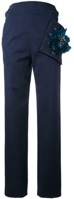 Christopher Kane highwaisted trousers with flower pocket