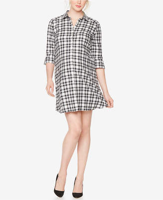 Isabella Oliver Maternity Plaid Shirtdress