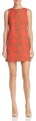 Alice + Olivia Clyde Lips Print A-Line Shift Dress