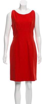 Brian Reyes Sleeveless Wool Dress