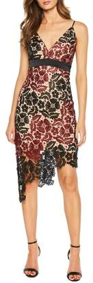 Bardot Asymmetrical Lace Dress