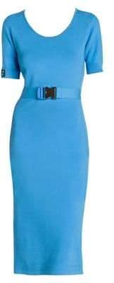 Fendi Belted Logo Midi Dress