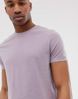 Asos Design DESIGN crew neck t-shirt with crew neck in purple
