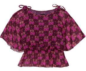 Anna Sui Printed Silk-Georgette Blouse
