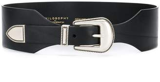 Philosophy di Lorenzo Serafini wide Western buckle belt