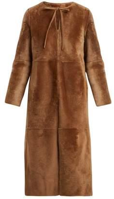 Yves Salomon Reversible Shearling Coat - Womens - Light Brown
