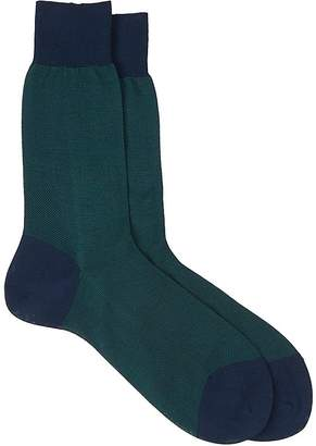 Barneys New York Men's Birdseye-Knit Mid-Calf Socks