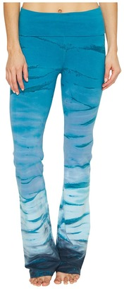 Hard Tail - Rolldown Bootleg Flare Pants Women's Casual Pants $80 thestylecure.com